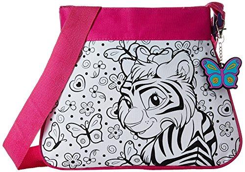 Wild Republic 10694 - Borsetta alla moda da decorare, con portachiavi, motivo: animali africani, 32 pezzi, colore: Rosa