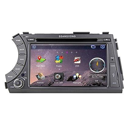 "Rungrace Lecteur DVD Autoradio 7"" 2 Din Ecran TFT pour Ssangyong Acyton Kyron avec Bluetooth, Navigation GPS, RDS, DVB-T (RL-918WGDR02"