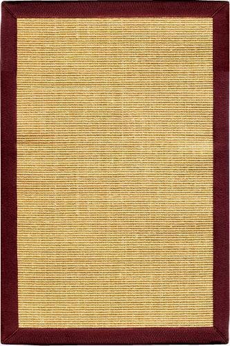 Freeport Sisal Area Rug, 3'x5', HONEY BURGUNDY