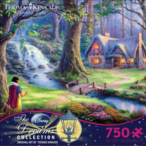 Thomas Kinkade Snow White Jigsaw Puzzle, 750 Pieces
