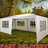 Marquee 3x6m Gazebo Garden Awning Party Tent Canopy White Powder Coated Steel frame marquee with sidewalls