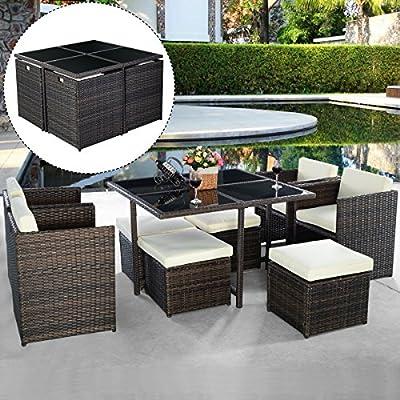 Poly Rattan Rattanset Rattanmöbel Gartenmöbel Lounge Set Sitzgruppe Polyrattan Gartenset max 8er set Garnitur von FDS - Gartenmöbel von Du und Dein Garten