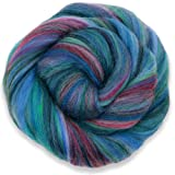 4 oz Paradise Fibers Multi-Colored Merino Wool Roving - Bermuda (Color: multicolored, Tamaño: 4 ounces)