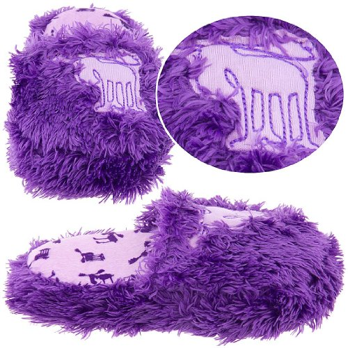 Cheap Lazy One Purple Fuzzy Moose Slippers for Girls (B005HEIMNG)