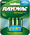 Rayovac PL724-4 GEN Platinum Pre-charged LSD NiMH AAA Carded Batteries, 4-Pack