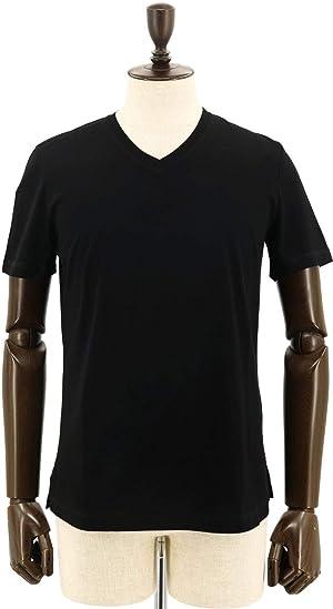 [CRUCIANI クルチアーニ] メンズ コットン Vネック 半袖 Tシャツ JF031/BLACK/3