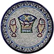 Tabgha - Miracle of Loaves and Fish Armenian ceramic plate - Meduim II (6.4 inches or 16cm)