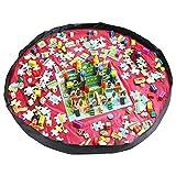 おもちゃ収納バッグ HOMECUBE 直径150cm 子どもプレイマット ブロック片付け ドローストリングバッグ 片付けマット レゴ 収納 防水シート ストレージバッグ (レッド)