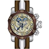 Invicta Men's 14461 Venom Analog Display Swiss Quartz Brown Watch (Color: gold)