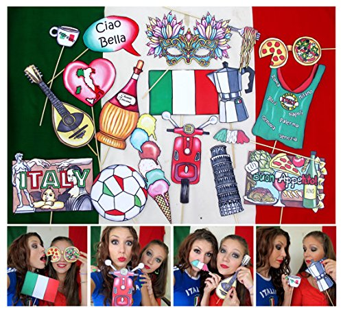 Italy Photo Booth Props (Italian Photo Prop compare prices)