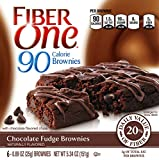 Fiber One Snacks Fiber One 90 Calorie Soft-Baked Bars Chocolate Fudge Brownie, 6 Bars, 5.34 oz.