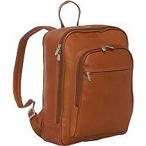 Piel Leather Front Pocket Computer Backpack