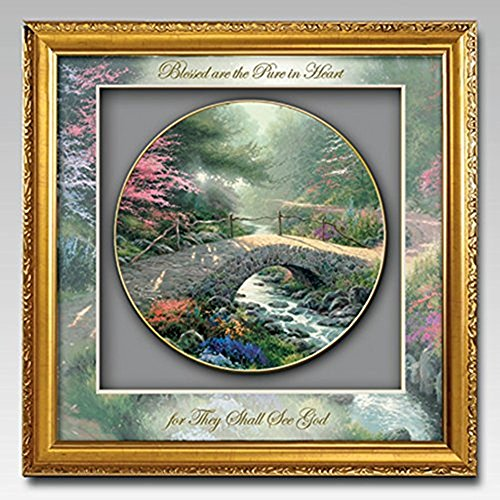 The Bradford Exchange Gardens Of Tranquility Inspirations Grace Shadowbox Plate Collection By Thomas Kinkade