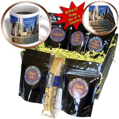 Cgb_62492_1 Florene America The Beautiful - Downtown Dallas Texas - Coffee Gift Baskets - Coffee Gift Basket