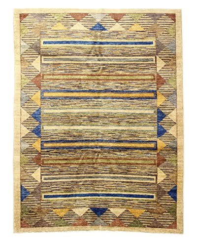 Bashian Rugs Hand Knotted One-of-a-Kind Pak Gabbeh Rug, Beige, 6' 6 x 8' 10