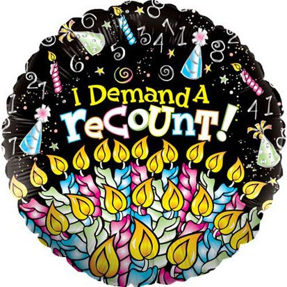 Demand A Recount Foil Balloon