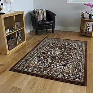 Tappeto per soggiorno marrone stile vintage bordo ricamato for Amazon tappeti soggiorno