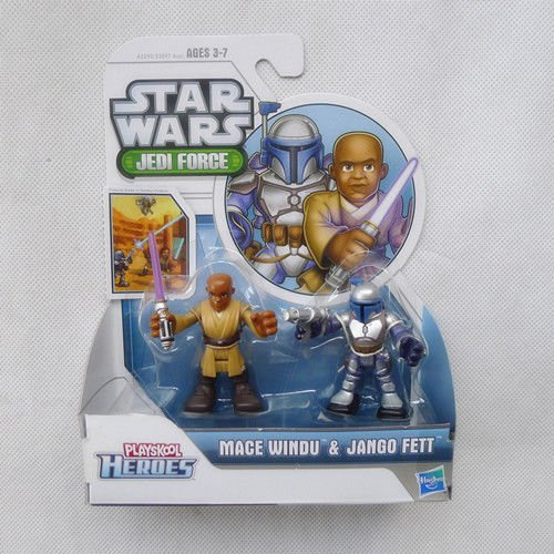 Nicky's Gift LanLan Playskool Heroes Star Wars 2 5 Mace Windu Jango Fett Action Figure Set