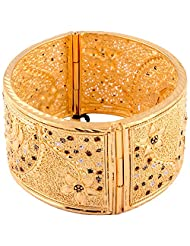 TKD Jewellers Multi-Colour Color Traditional Wear Gold Plated Forming Bangle For Women (TKDJ064)