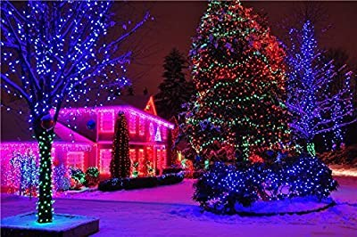 MerryLight Christmas Green Line Mesh Net Light