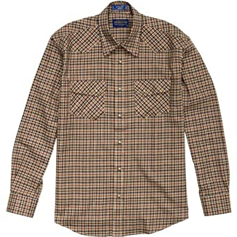 Pendleton Austin Shirt - Long-Sleeve - Men's Brown/Gold/Blue Plaid, S
