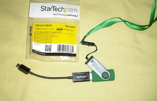StarTech.com 5in Micro USB to USB OTG Host Adapter - Micro USB Male to USB A Female On-The-GO Host Cable Adapter