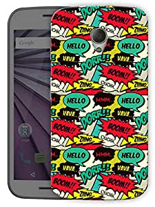 "Comic Cartoon Life Printed Designer Mobile Back Cover For ""Motorola Moto G2"" By Humor Gang (3D, Matte Finish, Premium Quality, Protective Snap On Slim Hard Phone Case, Multi Color)"