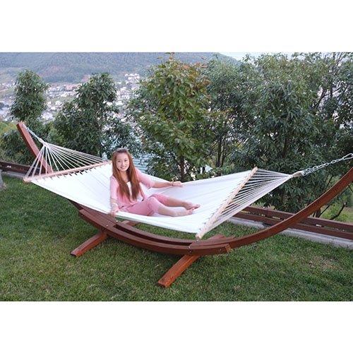 超大型ハンモック ・ハンモックスタンド 木製自立型 木綿ハンモック付き