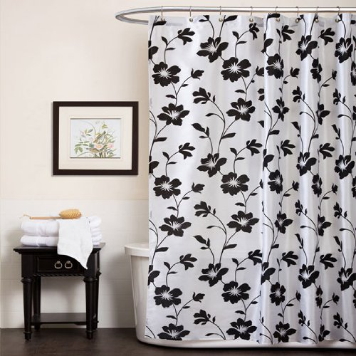 Nickbarronco 100 Black White And Red Shower Curtain
