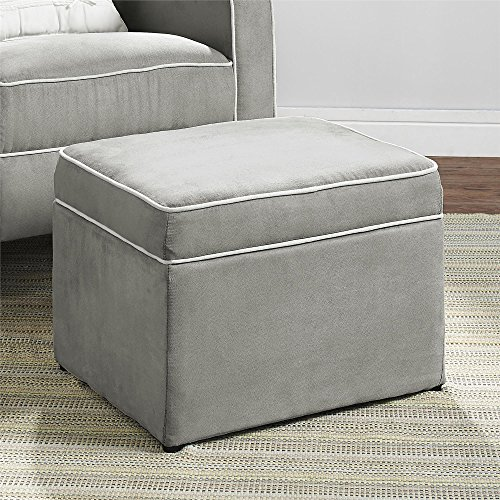 Dorel Asia The Abby Nursery Storage Ottoman for Baby Gliders, Grey - 1