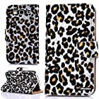 Oksobuy® Samsung Galaxy S3 I9300 Model,Fashion Luxury Designer PU Leather Wallet Type High Quality Samsung Galaxy S3 I9300 Twinkling Star Holster Case,Flip Case Cover with Credit Card Holder Slots,stand Available 2in1 Hybrid High Impact with Flash Points Leopard Texture Magnetron Protective Case for Samsung Galaxy S3 I9300.(Samsung Galaxy S3 I9300 case) (Silver)
