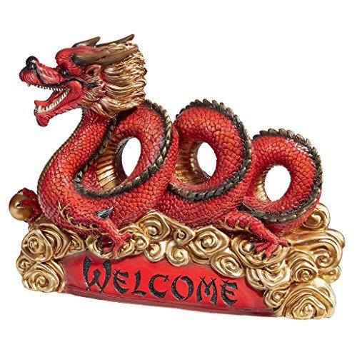 Design Toscano Asian Zen Dragon Garden Welcome Statue