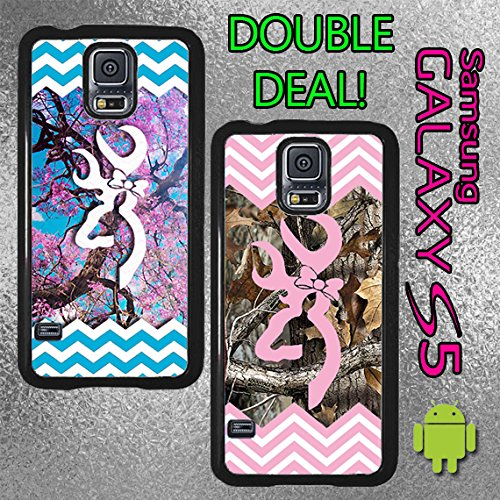 Original Country Girl Double Deal Chevron Light Pink And Blue Dogwood Tree Samsung Galaxy S5 Case