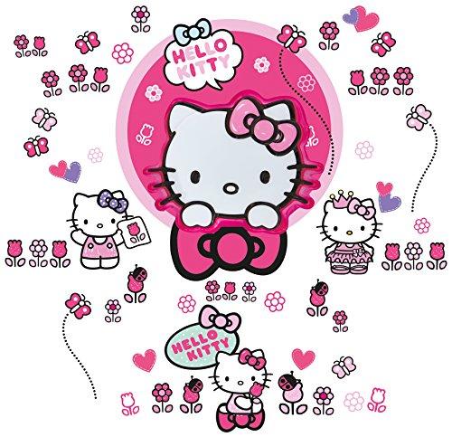 Worlds Apart 556HTT ReadyRoom Hello Kitty Clap 'N' Glow Wall Stickers