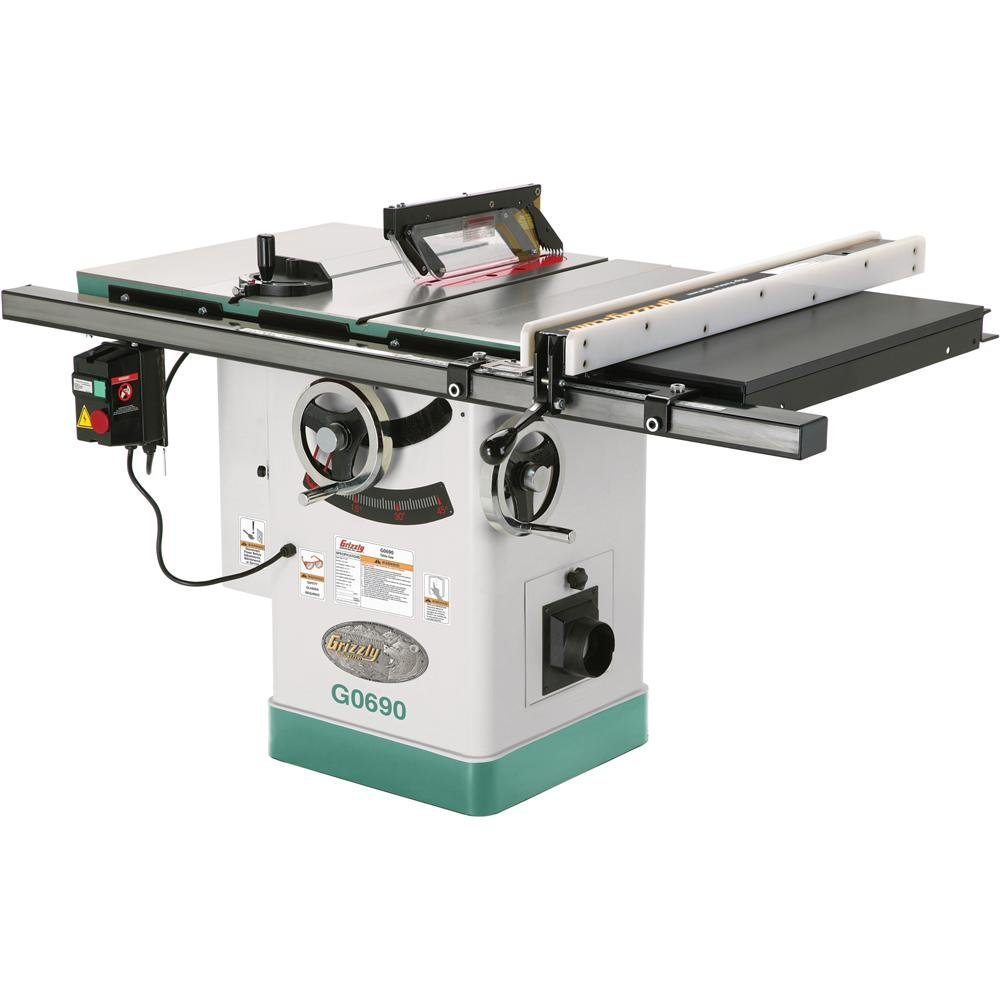 Grizzly G0690 Cabinet Table Saw with Riving Knife, 10-Inch grizzly g1870 wood threading 1 inch die