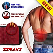 SALE Ziraki Adjustable Lumbar Lower Back Support Massage Brace Self-heating Magnetic Therapy Belt Relieve Pain...