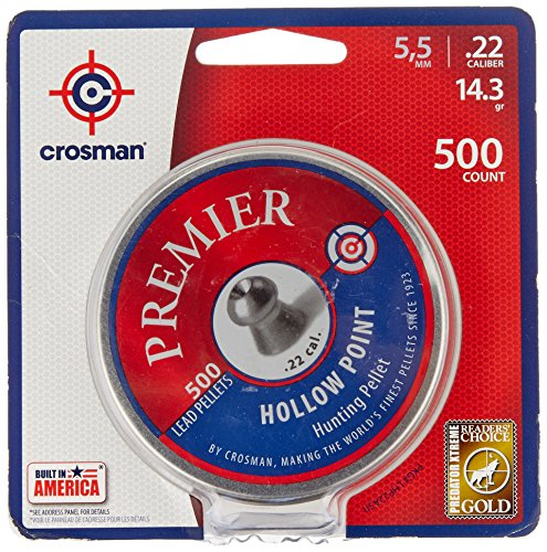 Crosman Premier Hollow Point Pellet .22 cal, 500 count