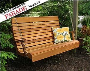 Amazon Com 5 Red Cedar Royal Highback Porch Swing With
