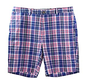 Vineyard Vines Mens Breaker Short Madras Bermuda Pink Cotton Apparel
