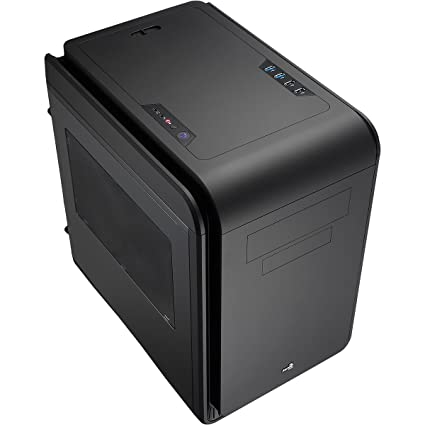 Aerocool - Boitier Tour - Micro ATX/Mini ITX - Fenêtre Plexi - DS Cube Window - Noir