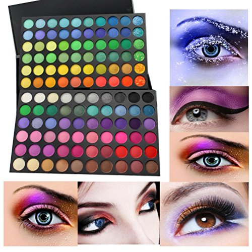 Eye shadow Sandistore 120 Colors Eyeshadow Eye Shadow Makeup Cosmetics Palette for Home and Professional Use (A)