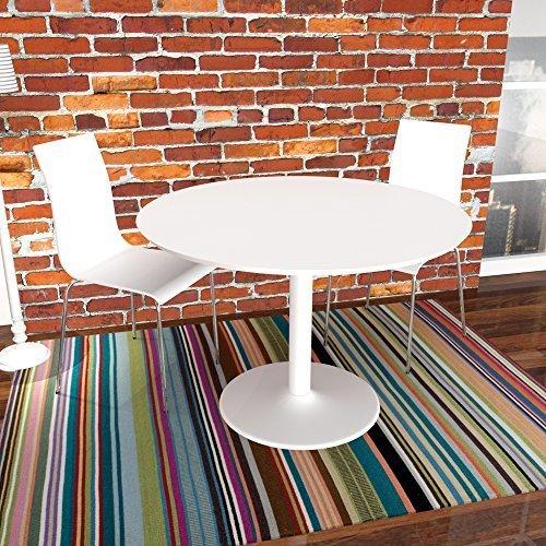 Tavolo da pranzo tavolo IBIZA, bianco, rotondo, 110 cm