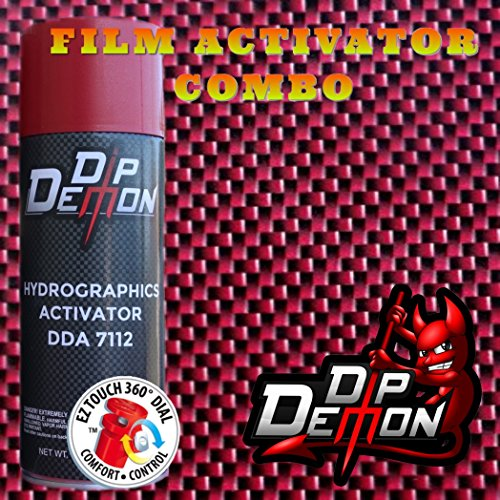 COMBO KIT RED CARBON FIBER HYDROGRAPHIC WATER TRANSFER FILM ACTIVATOR COMBO KIT HYDRO DIPPING DIP DEMON (Hydro Film Carbon Fiber compare prices)