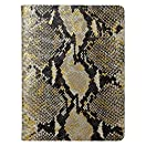 2015 Desk Diary / Organizer / Appointment Book, Gold Wash Embossed Python Leather, 9