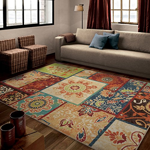 Orian Rugs Patchland Multi Area Rug (7'10