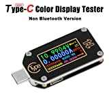 MakerHawk USB Power Meter, TC66 USB Tester Type C USB Voltage Meter and Current Tester, 0.96 Inch IPS Color LCD Display Power Tester Multimeter PD Ammeter Voltmeter QC 2.0 3.0 (Color: TC66 USB Tester)