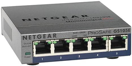 Netgear ProSafe Plus Commutateur réseau Gigabit Ethernet 5 ports (Import Royaume Uni)
