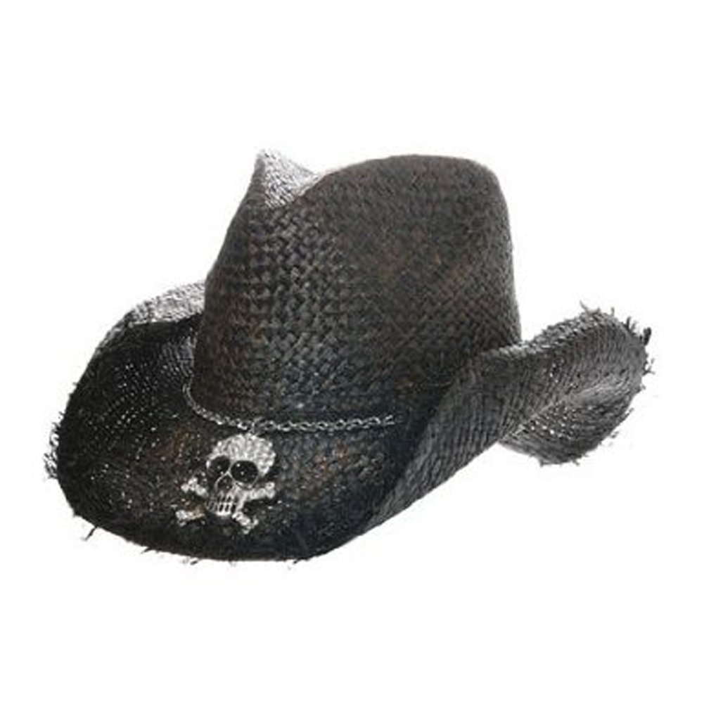 Skull Cowboy Hat Straw Hat With Skull