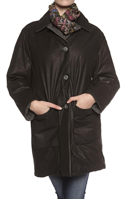 Cristiano di Thiene Damen Jacke Lederjacke Wendejacke , Farbe: Schwarz online kaufen