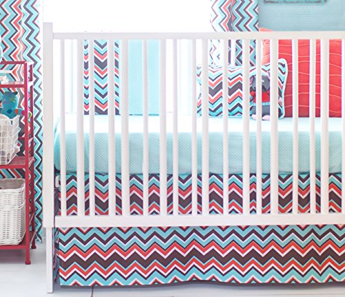 New Arrivals 2 Piece Crib Bed Set, Piper in Aqua
